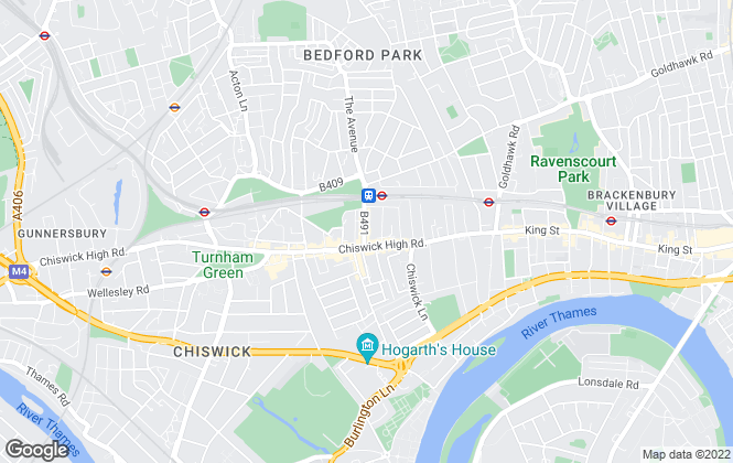 Map for Hamptons International Lettings, Chiswick - Lettings