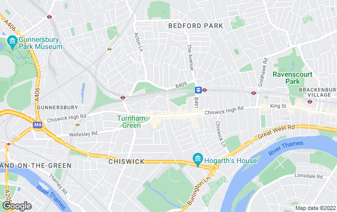 Map for Marc and Partners, Chiswick