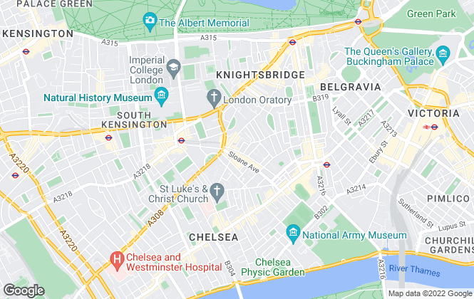 Map for Bodens, Chelsea