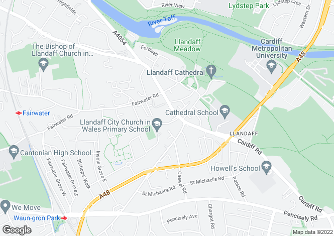 Map for Pritchard Court, Cardiff Road, Llandaff, CARDIFF