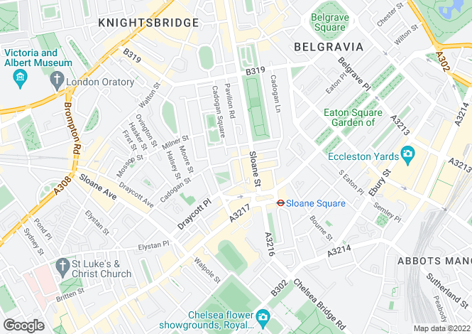 Map for CADOGAN GARDENS, SLOANE SQUARE SW3