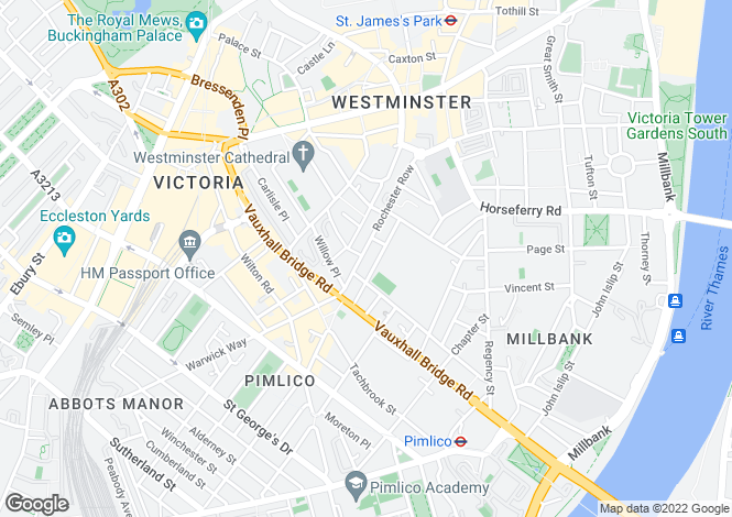 Map for Vincent Square, Westminster, LONDON