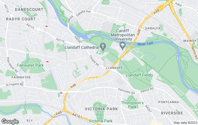 Map for Norton, Llandaff