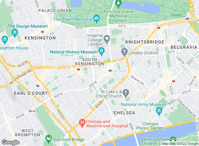 Map for Beaney Pearce, South Kensington - Sales