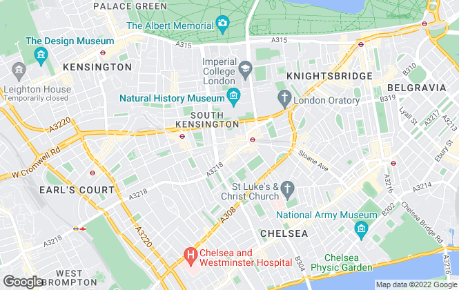 Map for Beaney Pearce, South Kensington - Lettings