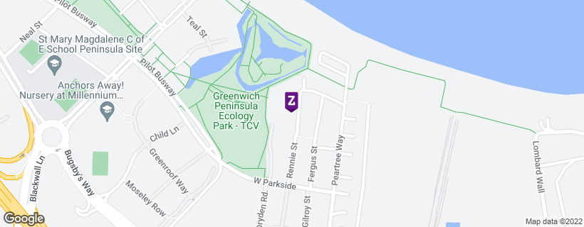 Map showing location of property