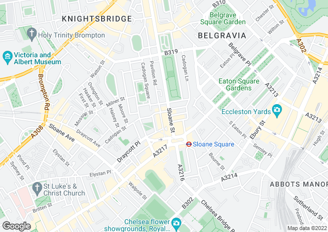 Map for Collette Court, 125 Sloane Street, London, SW1X