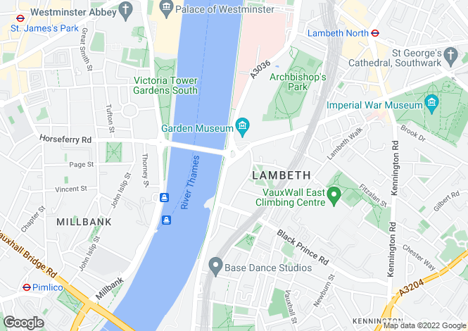 Map for 1 Albert Embankment, Vauxhall