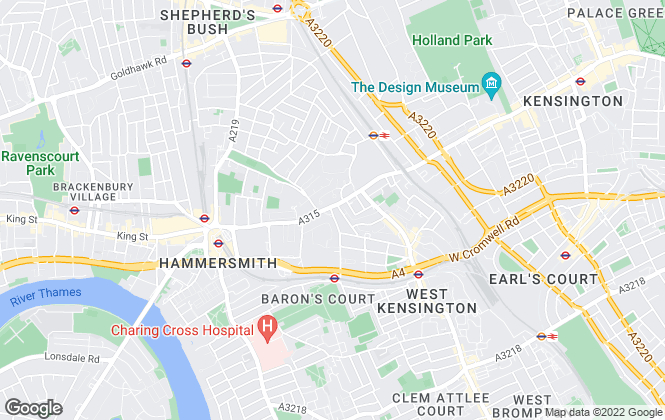 Map for Tates , West Kensington