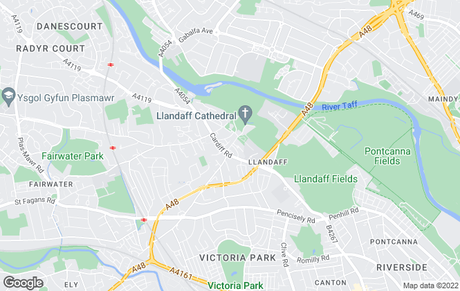 Map for John Williams Land and Estates, Llandaff