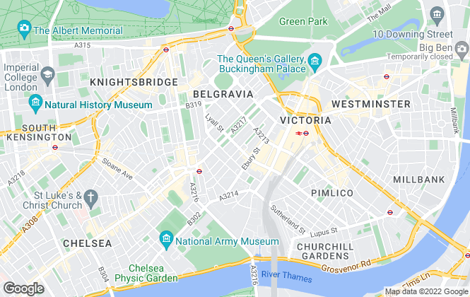 Map for Best Gapp, Belgravia - Sales