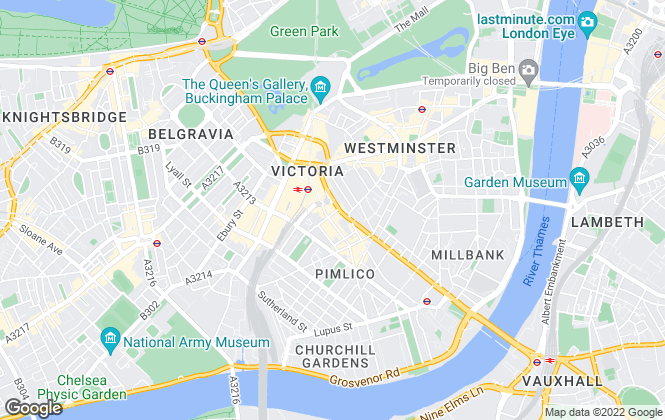 Map for Chestertons Estate Agents , Westminster & Pimlico Lettings