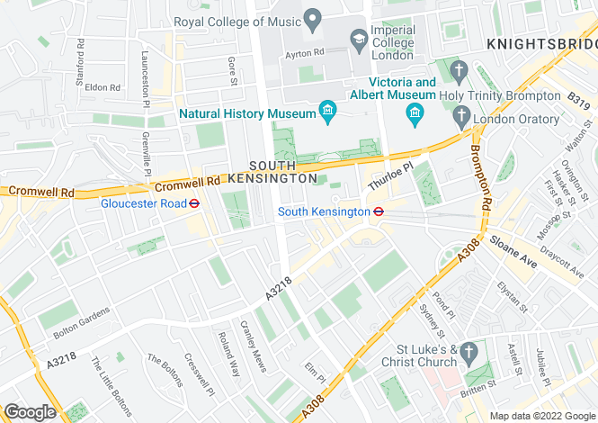 Map for Queensberry Place, South Kensington, London, SW7 2DR