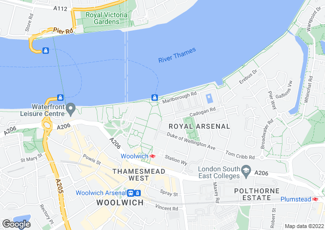 Map for Royal Arsenal Building  greenwich