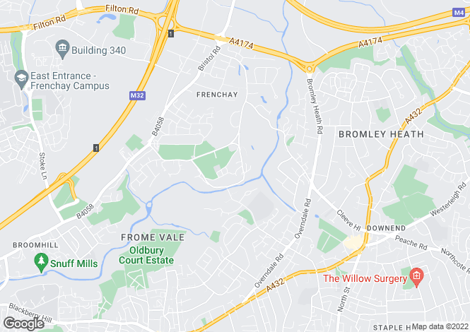 Map for Frenchay, Bristol