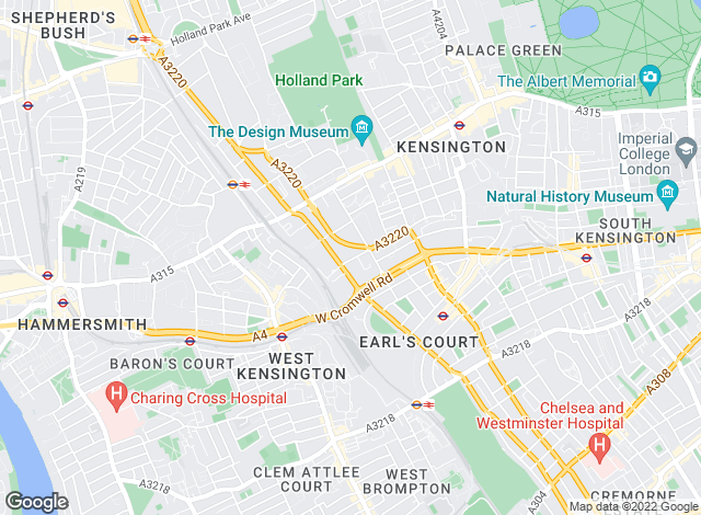 Map for Edmund Cude, Earls Court