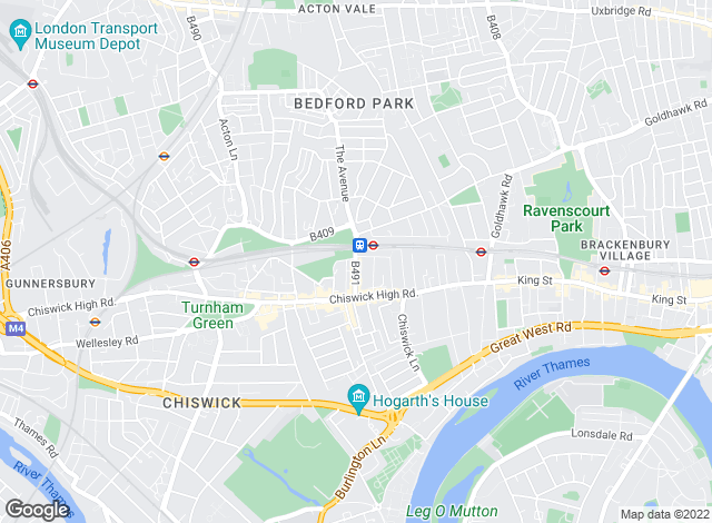 Map for Savills, Chiswick