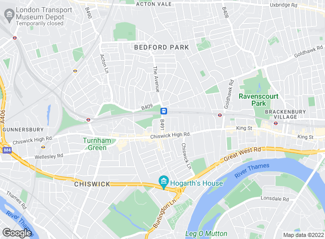 Map for Savills Lettings, Chiswick