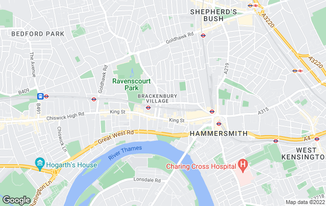 Map for Douglas & Gordon, Hammersmith & Shepherd's Bush
