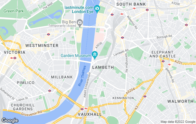 Map for Prime London, Central and Riverside