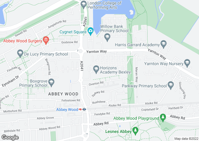 Map for Abbey Wood, London, SE2
