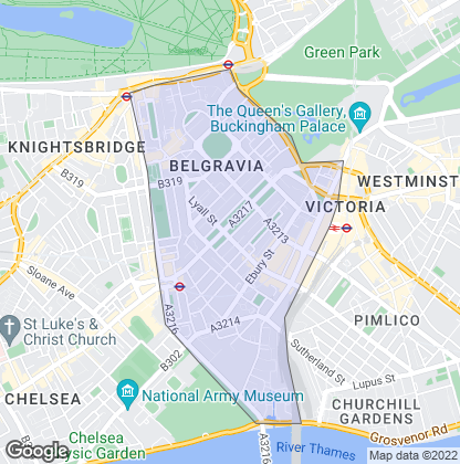 Map of property in Belgravia