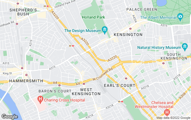 Map for Hermitage Real Estate, London