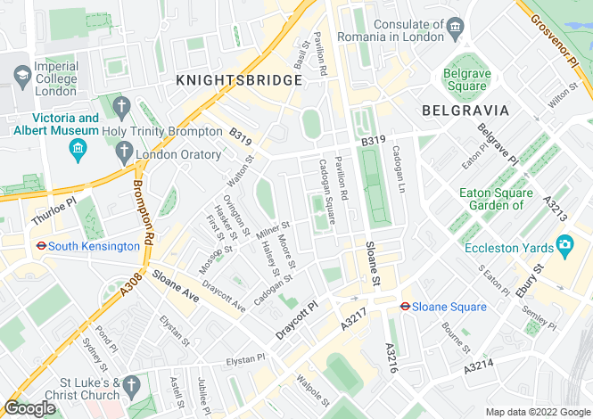 Map for Cadogan Square, Knightsbridge, London, SW1X