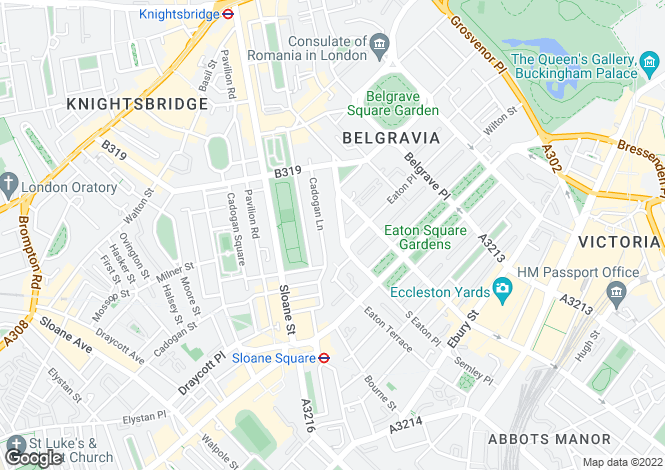 Map for Chesham Street, Belgravia, London SW1X