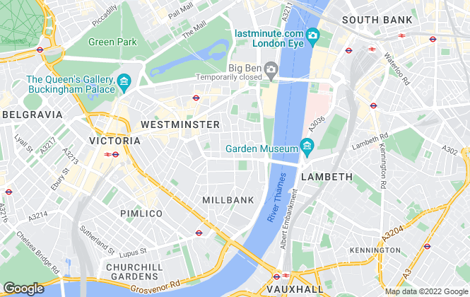 Map for Garton Jones, Westminster