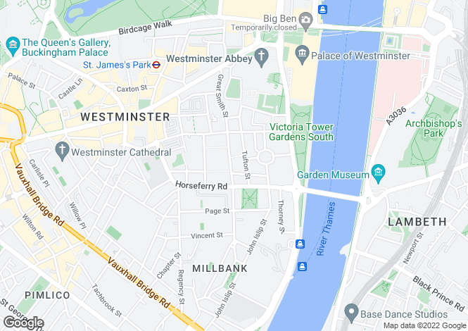 Map for MARSHAM STREET, WESTMINSTER, SW1P