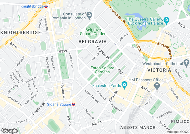 Map for Eaton Square, Belgravia, London, SW1W
