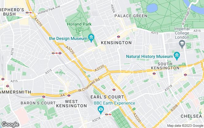 Map for Parkes Estate Agents, Kensington