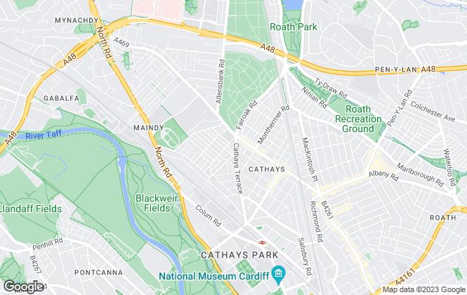Map for issa estates ltd, Cathays