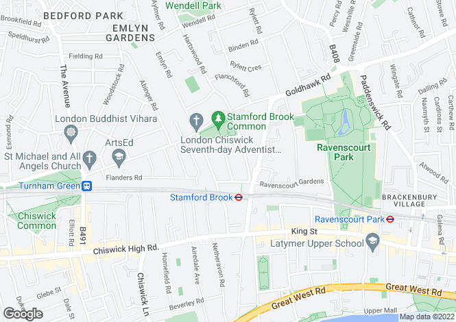 Map for Pleydell Avenue, Hammersmith, London W6 0XX