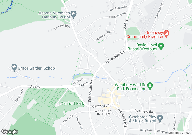 Map for Falcondale Road, Westbury On Trym