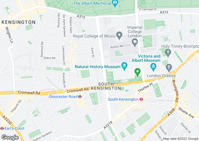 Map for Flat 17, 48 Queens Gate, South Kensington, London, SW7