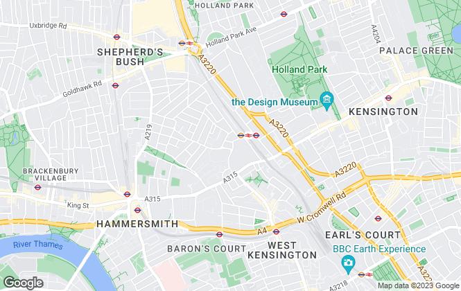 Map for Boston Gilmore, Kew Bridge