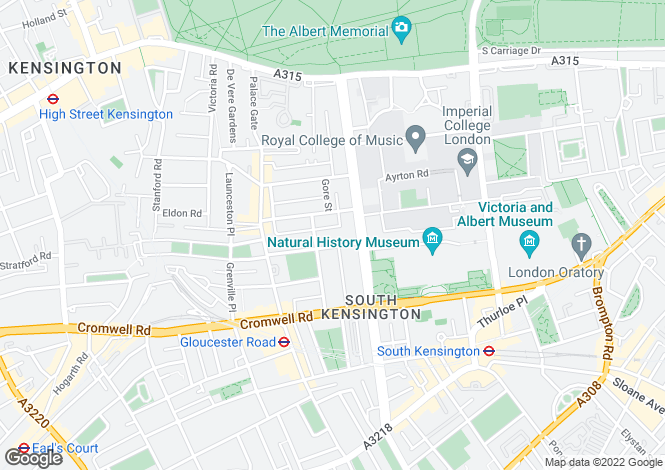 Map for Elvaston Mews  South Kensington  SW7