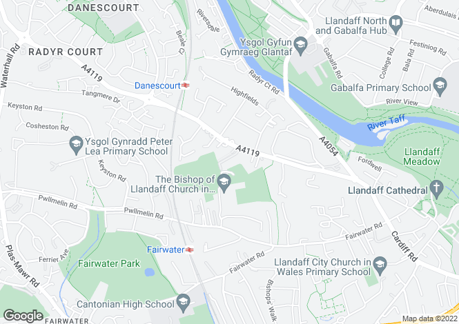 Map for Llantrisant Road, Llandaff, Cardiff