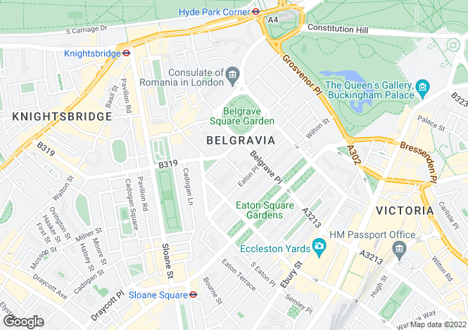 Map for Lowndes Place, Belgravia, SW1X