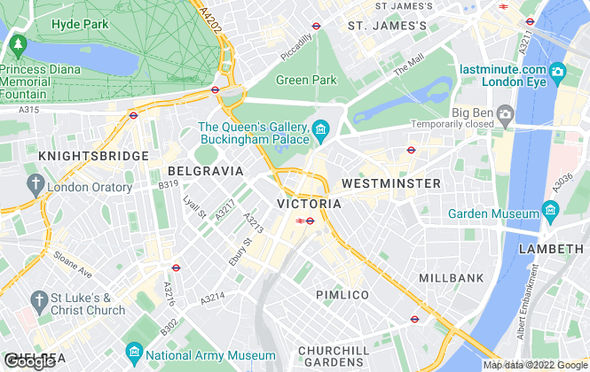 Map for Exclusive Property Sales, London