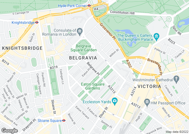 Map for Eaton Place, Belgravia, London, SW1X