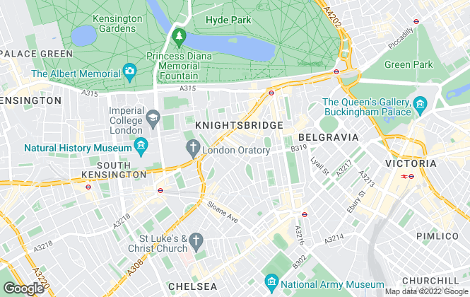 Map for Carter Jonas Lettings, Knightsbridge