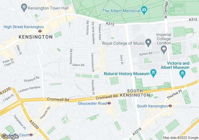 Map for Gloucester Road, Kensington
