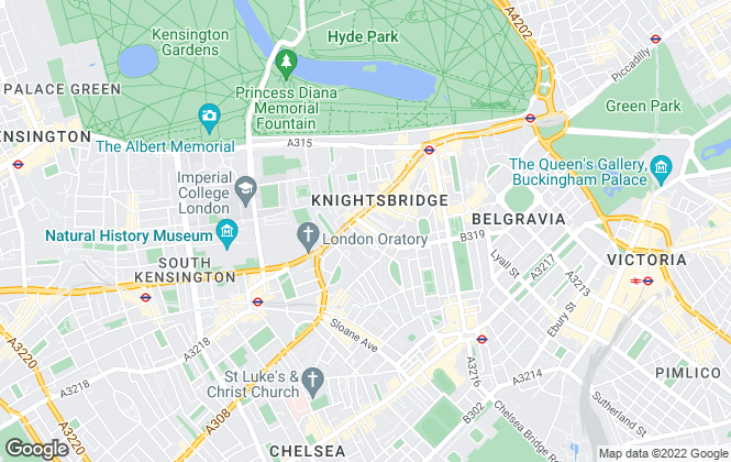 Map for Plaza Estates , Knightsbridge