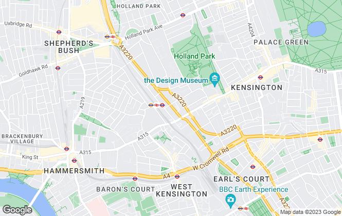 Map for JLL, Kensington High Street