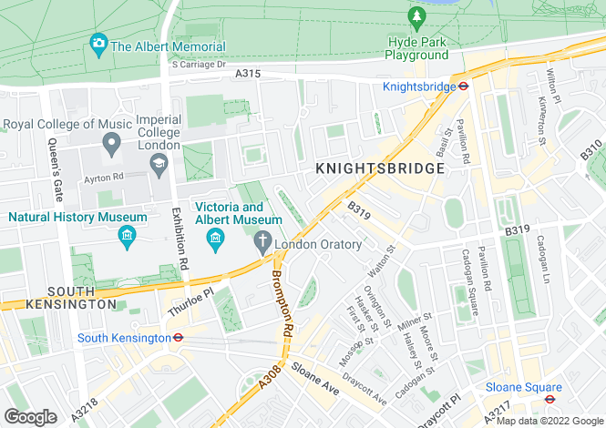 Map for Brompton Square, London, SW3