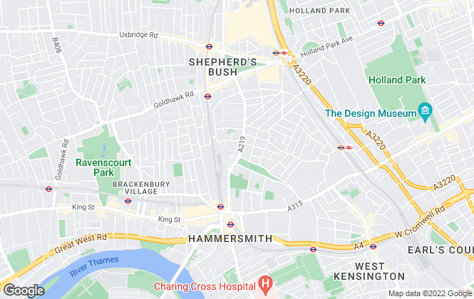 Map for Savills, Brook Green & Shepherd's Bush