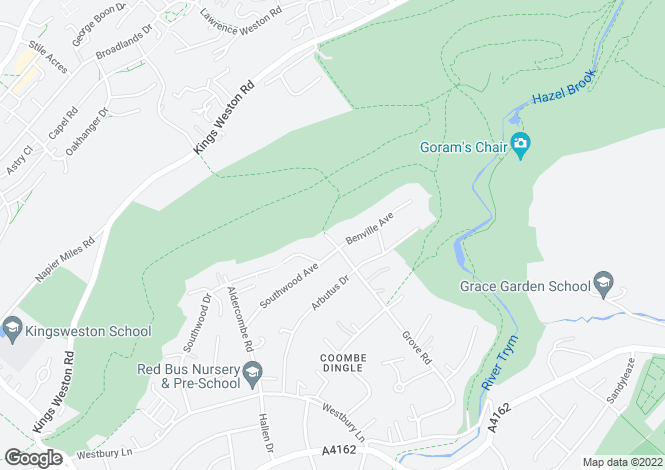 Map for Grove Road, Coombe Dingle, BRISTOL, BS9 2RT